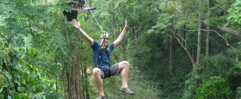 Drew Meyers ziplining chiang mai
