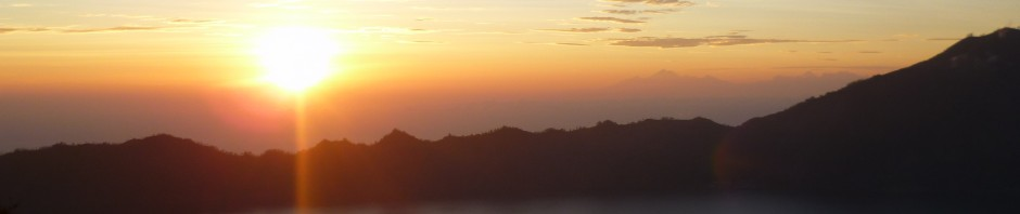 Sunrise at Mount Batur in Bali