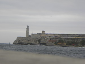 El Castillo del Morro - view from the Havana waterfront.