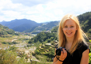 Agness at the rice terraces in Banaue, the Philippines
