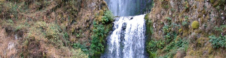 Visitors to Multnomah Falls often opt to stay at a hotel in Portland, Oregon.