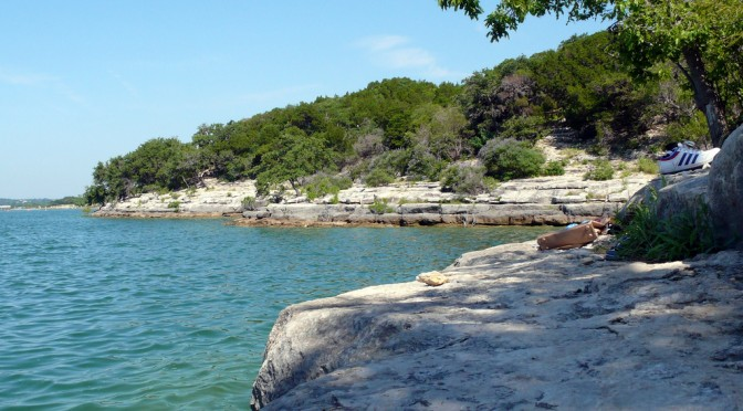 Hippie Hollow Beach on Lake Travis is less than 30 minutes from Austin hotels.
