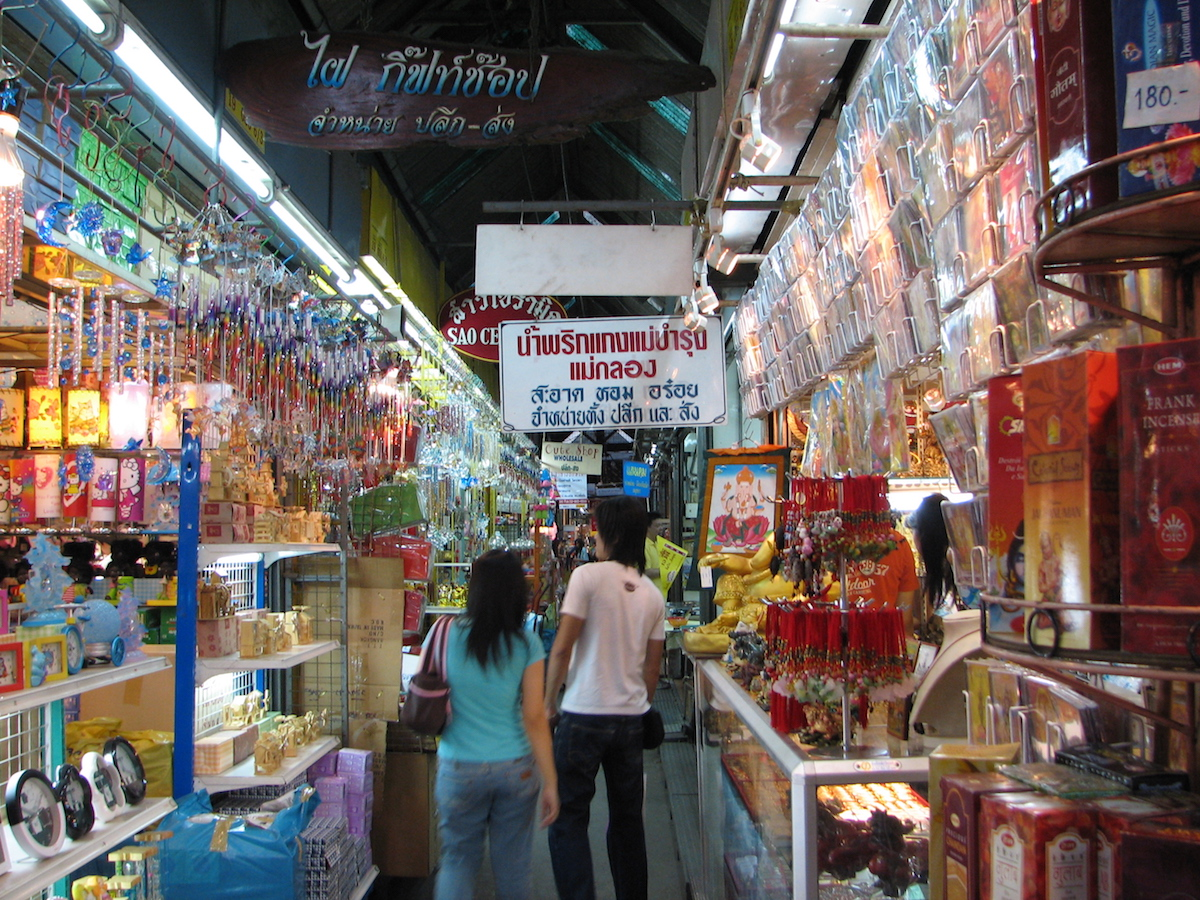 people shopping at chatuchak market